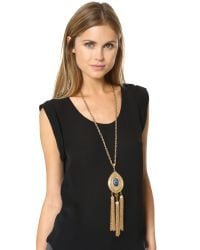 Ben-Amun - Metallic Long Tassel Necklace - Lyst