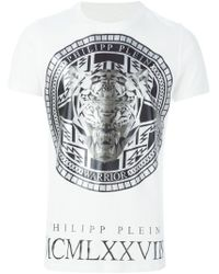 Philipp Plein - White 'medallion' T-shirt for Men - Lyst