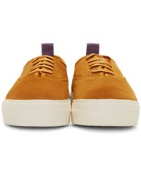 Eytys - Yellow Camel Suede Mother Sneakers for Men - Lyst