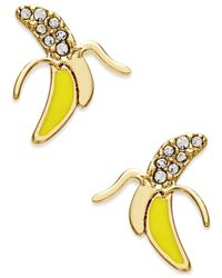 kate spade new york | Metallic Gold-tone Banana Stud Earrings | Lyst
