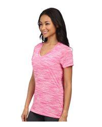 Under Armour - Pink Ua Tech™ Space Dye Short Sleeve V-neck - Lyst