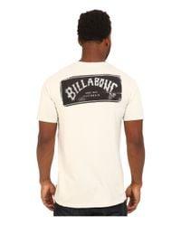 Billabong | Natural Paste Up T-shirt for Men | Lyst