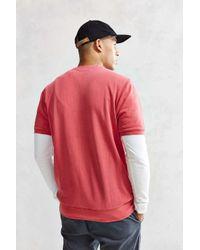 Stussy - Red Stock Short-sleeve Sweatshirt for Men - Lyst