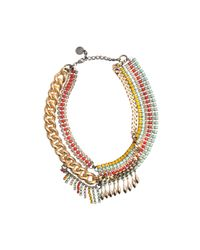 Anton Heunis | Metallic Katrina Asymmetric Statement Necklace | Lyst