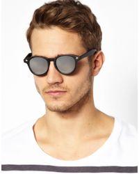 ASOS | Black Preppy Wayfarer Sunglasses with Mirror Lens for Men | Lyst