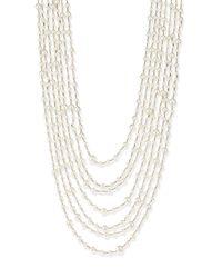 Rosantica - White Pegaso River Pearl 7-strand Necklace - Lyst