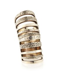 Pamela Love - Metallic Sterling Silver Hinged Cage Ring - Lyst