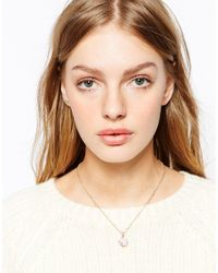 Ted Baker | Pink Shaday Crystal Stone Necklace | Lyst