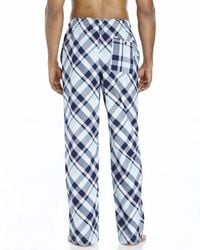 Psycho Bunny - Blue Plaid Woven Lounge Pants for Men - Lyst