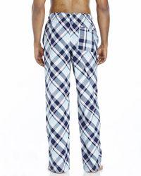 Psycho Bunny | Blue Plaid Woven Lounge Pants for Men | Lyst
