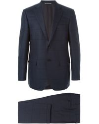 Canali - Blue Checked Two-piece Suit for Men - Lyst