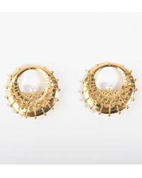 De La Forge | Metallic Calypso Gold Stackable Earrings | Lyst