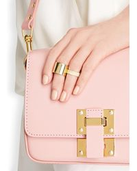 MFP MariaFrancescaPepe - Metallic 23kt Gold Plated Midi Rings - Lyst