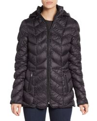 Saks Fifth Avenue - Black Quilted Down Puffer Jacket - Lyst