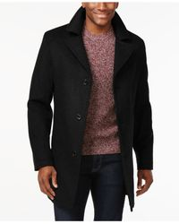 Michael Kors | Black Michael Archdale Slim-fit Overcoat for Men | Lyst