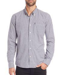 Barbour - Blue Gingham Cotton Shirt for Men - Lyst