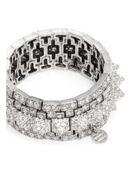 Philippe Audibert | Metallic Elies Crystals Pavé Spikes Bracelet | Lyst