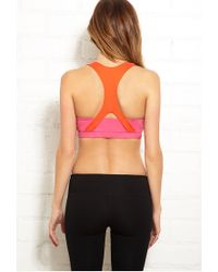 Forever 21 | Pink Medium Impact - Cross Back Sports Bra | Lyst