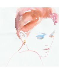 Lulu Frost - Metallic Code Number 14kt #2 Earring - Lyst