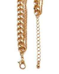 Forever 21 - Metallic Faux Pearl Chain Necklace - Lyst