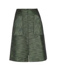 Paul Smith | Women's Green Textured Cotton-blend Skirt | Lyst