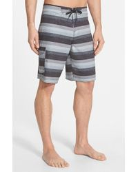 Jack O'neill | Black 'resin Dos' Stripe Board Shorts for Men | Lyst