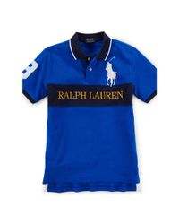 Ralph Lauren - Blue Big Pony Cotton Mesh Polo for Men - Lyst