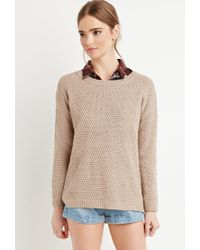 Forever 21 | Brown Textured Knit Sweater | Lyst