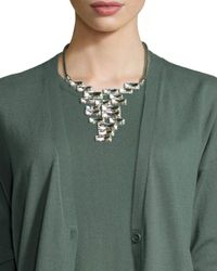 Lafayette 148 New York - Gray Crystal Cluster Pendant Necklace - Lyst