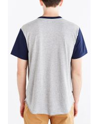 Obey | Blue Cast Henley Tee for Men | Lyst