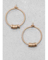 & Other Stories - Metallic Delicate Hoop Earrings - Lyst