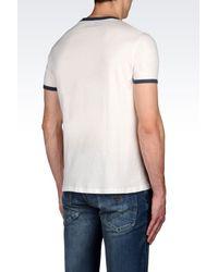 Armani Jeans | White Print T-shirt for Men | Lyst