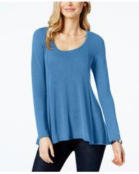 Karen Kane | Blue High-low Light Weight Sweater | Lyst