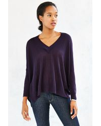 Pins And Needles | Blue Fine-gauge Miles V-neck Top | Lyst