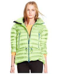 Polo Ralph Lauren | Green Down Puffer Coat | Lyst