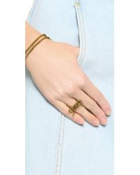 Marc Jacobs - Metallic Rope Bow Ring - Lyst