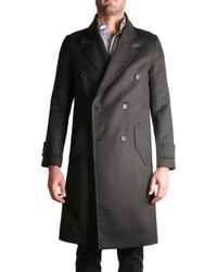 AMI | Army Green Coat for Men | Lyst