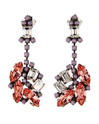 Janis By Janis Savitt | Metallic Floral Drop Earrings | Lyst