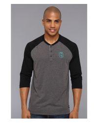 Nike | Black Sb Everett Drifit 34 Henley for Men | Lyst