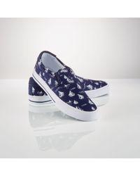 Polo Ralph Lauren | Blue Canvas Slip-on Sneaker for Men | Lyst