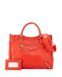 Balenciaga - Orange Giant 12 Velo Lambskin Tote Bag - Lyst