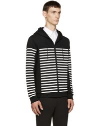T By Alexander Wang | Black Striped Hoodie for Men | Lyst