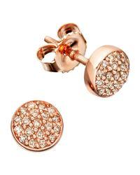 Astley Clarke | Pink Muse A Little Muse 14ct Gold Diamond Stud Earrings | Lyst