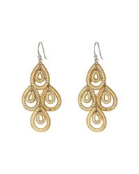 Anna Beck | Metallic Medium Chandelier Earrings | Lyst