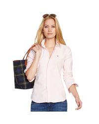 Polo Ralph Lauren | Pink Custom-fit Striped Shirt | Lyst