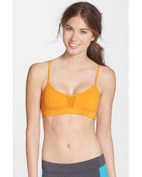 Alo Yoga - Orange 'goddess' Sports Bra - Lyst