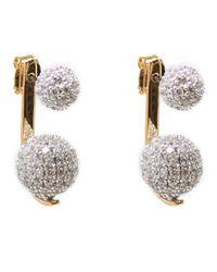 Noir Jewelry | Metallic Eavesdrop Sparkle Ball Earrings | Lyst