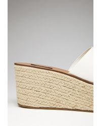 Forever 21 | Natural Faux Leather Espadrille Wedges | Lyst