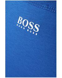 BOSS Green | Blue 'tee 1' | Cotton Graphic Logo T-shirt for Men | Lyst