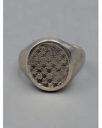 Werkstatt:münchen | Metallic Stamped Signet Ring for Men | Lyst